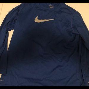 Nike long sleeve YL royal
